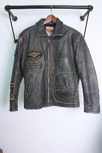 "90s~ HARLEY DAVISON (L) made in KOREA ""Leather"""