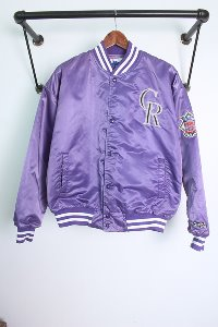 "80~90s Chalk Line (L~XL) made in USA ""Colorado Rockies"""
