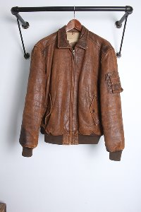 "OLD FLIGHT JACKET by KATA (M~L) ""sheep skin"""