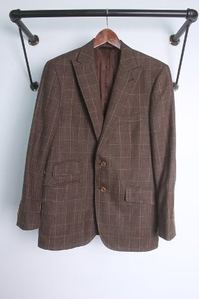 "BROOKS BROTHERS (L) made in ITALY ""+ silk & linen"""