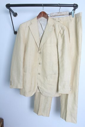 "THE SUIT COMPANY  (XL/34~35) ""linen & silk +"""