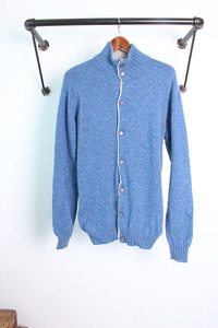 "John Tulloch x BEAUTY & YOUTH UNITED ARROWS BLUE LABEL (L) 100% PURE WOOL ""made in SCOTLAND"""
